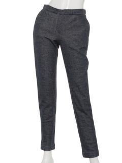 スウェット素材デニム風パンツ