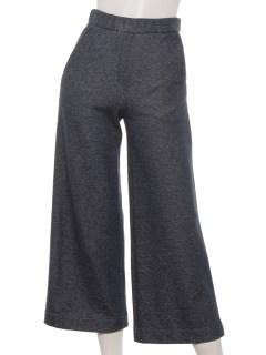 スウェット素材デニム風飾りポケットパンツ