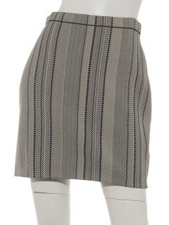 ジャガード編みタイトスカート