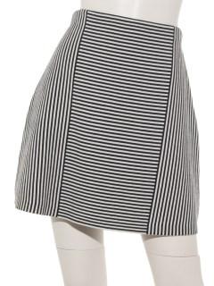 ボーダー切り替えデザインスカート