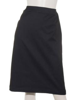 デニム調シンプル スリットスカート