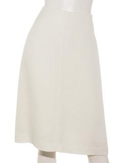 リネン混シンプルタイトスカート