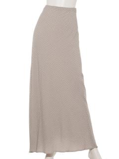ギンガムチェック柄ロングスカート