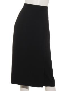 ラップスカート風コットンニットスカート