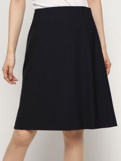 ストライプ台形スカート