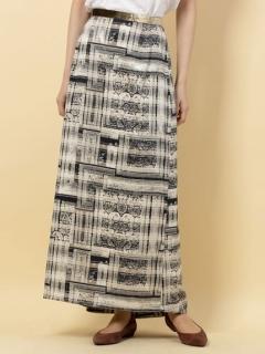 バックフレアアシンメトリースカート