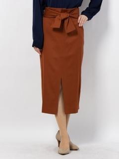 ウエストリボンタイトロングスカート