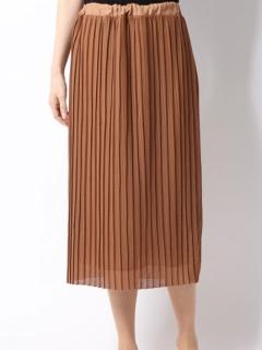 網目デザインプリーツスカート