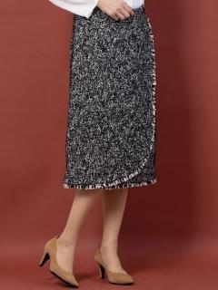 ツイードラップスカート