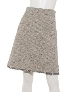フリンジあしらいタイトスカート