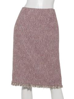 ツイードフリンジタイトスカート