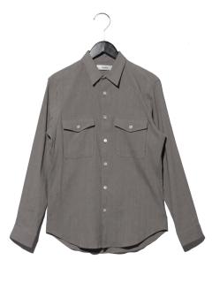 ポケット付 リネンシャツ