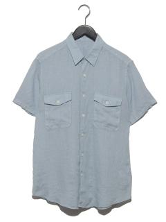 リネン半袖シャツ