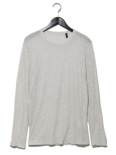 クルーネックコットンシンプルTシャツ