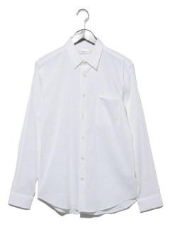 リネン混スタンダードカラーシャツ