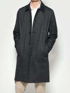 デザイン袖 ステンカラーコート