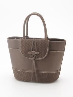 イタリアンレザーバケツ型手提げバッグ