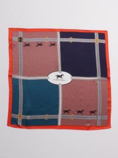 馬*ベルト柄シルクスカーフ
