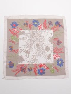 フラワーptバイカラースカーフ