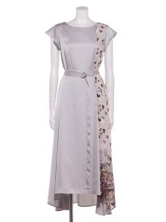 Aラインアシメロングドレス