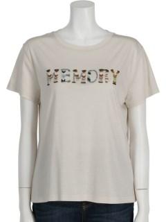 ビーズ刺繍セルロース【MEMORY】Tシャツ