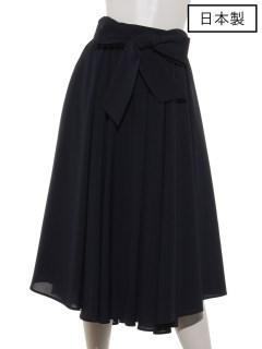 【日本製】バックリボンタックギャザースカート