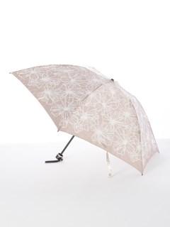 【ルフジュ】婦人折りたたみ傘影花柄