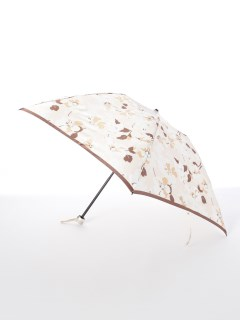 【ルフジュ】婦人折りたたみ傘シルエット花柄