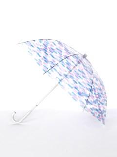 【[+TIC]】婦人長傘ビニール水彩ボーダー