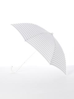 【[+TIC]】婦人長傘ドットボーダー柄