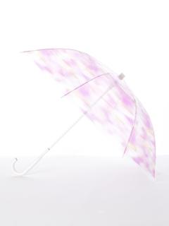 【[+TIC]】婦人長傘ビニールグラデーション