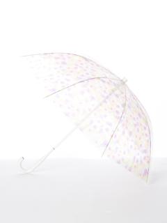 【[+TIC]】婦人長傘ビニールフラワー