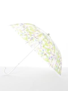 【[+TIC]】婦人長傘ビニール幾何柄