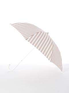 【[+TIC]】婦人長傘ストライプ柄