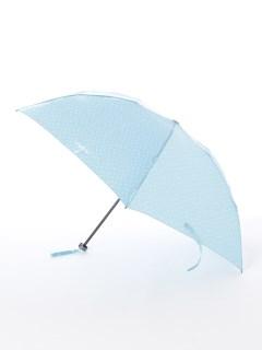 【ビバユー】婦人軽量折りたたみ傘 ハート柄