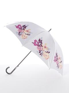 【ミラショーン】婦人ジャンプ長傘 水彩バラ柄