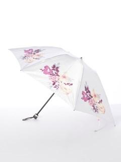 【ミラショーン】婦人折りたたみ傘 水彩バラ柄