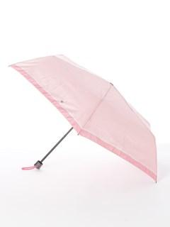 【ライトスタイル】婦人折りたたみ傘 ボーダー柄