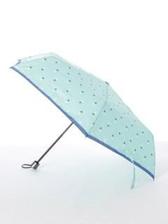 【ライトスタイル】婦人折りたたみ傘ハート柄