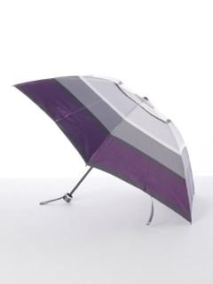 【ルフジュ】婦人折りたたみ傘ボーダー柄