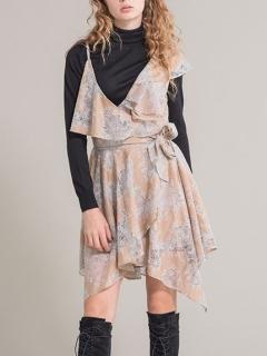 アシメトリーレースドレス