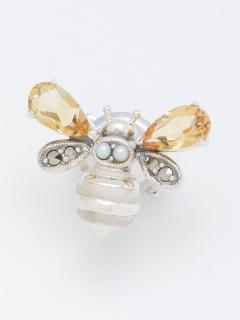 SSシトリン蜜蜂のピンブローチ