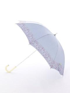 【korko(コルコ)】晴雨兼用の刺繍日傘ショートタイプ【スモーランドのコテージ】