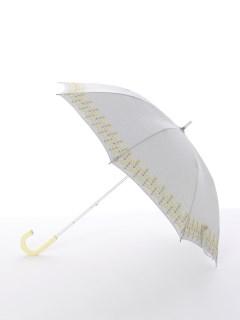 【korko(コルコ)】晴雨兼用の刺繍日傘ショートタイプ【菜の花】