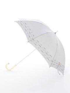 【korko(コルコ)】晴雨兼用の刺繍日傘ショートタイプ【バードソング】