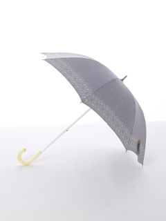 【korko(コルコ)】晴雨兼用の刺繍日傘ショートタイプ【コーンフラワー】