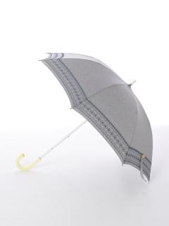 【korko(コルコ)】晴雨兼用の刺繍日傘ショートタイプ【ベリエ】