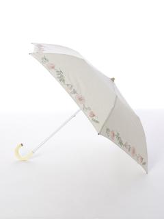 【korko(コルコ)】晴雨兼用の刺繍日傘2段折り畳みタイプ【サマーガーデン】