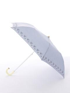 【korko(コルコ)】晴雨兼用の刺繍日傘2段折り畳みタイプ【ウルリクスダール城の庭園】