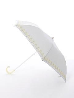 【korko(コルコ)】晴雨兼用の刺繍日傘2段折り畳みタイプ【菜の花】